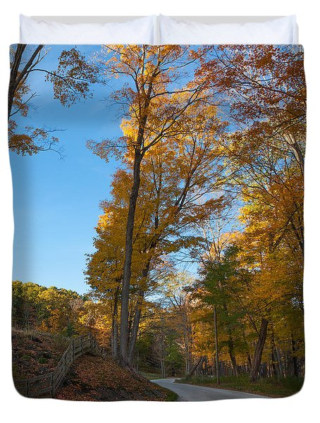 Chillin' on a Dirt Road Square Duvet Cover by Bill  Wakeley