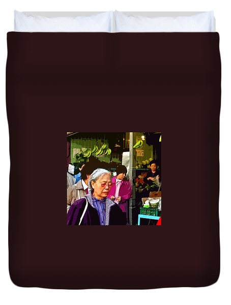 Chinatown Marketplace Duvet Cover by Joseph Coulombe