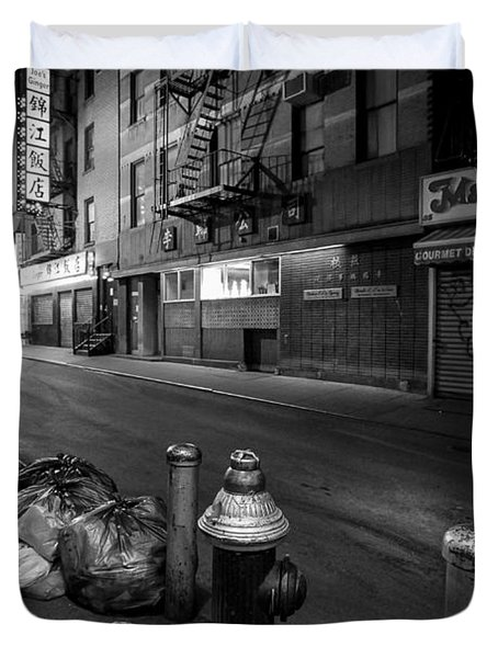 Chinatown New York City - Joe's Ginger on Pell street Duvet Cover by Gary Heller