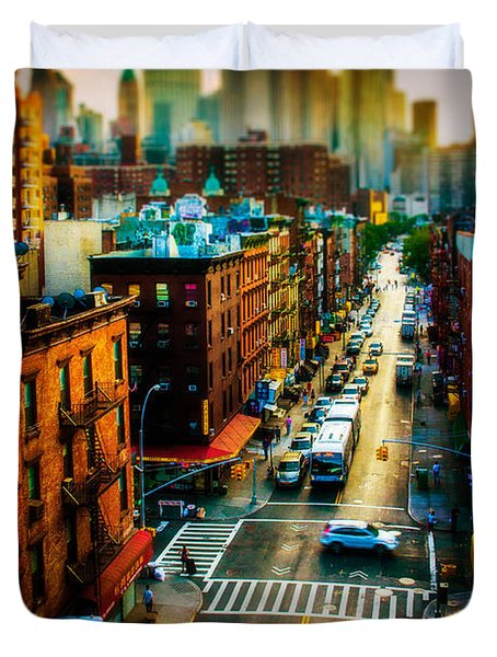 Chinatown Streets Duvet Cover by Chris Lord