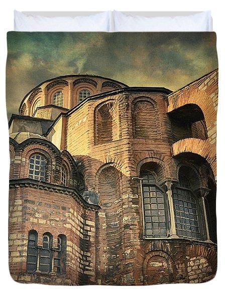 Chora Church Duvet Cover by Taylan Apukovska
