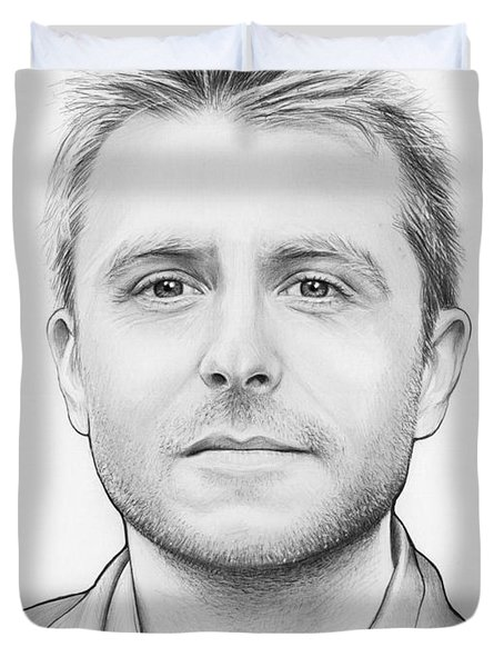 Chris Hardwick Duvet Cover by Olga Shvartsur