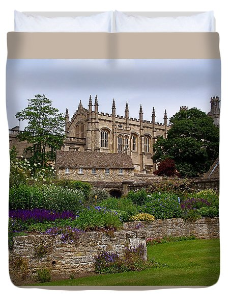 Christ Church In Spring Duvet Cover by Rona Black