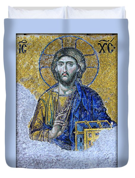 Christ Pantocrator II Duvet Cover by Stephen Stookey