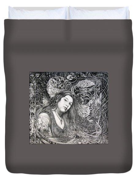 Christan Portrait Duvet Cover by Otto Rapp
