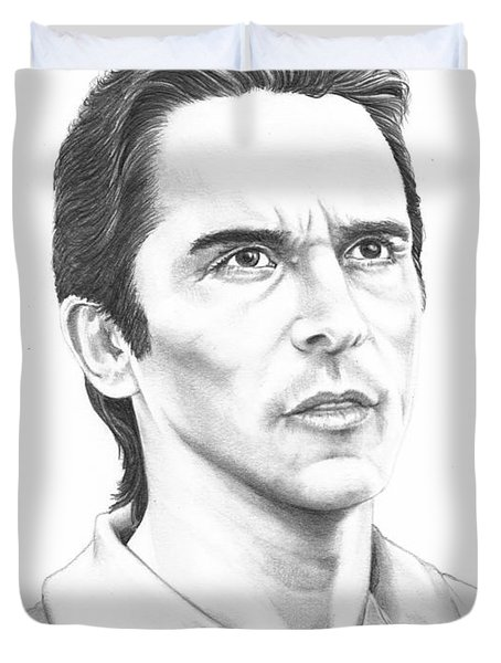 Christian Bale Duvet Cover by Murphy Elliott