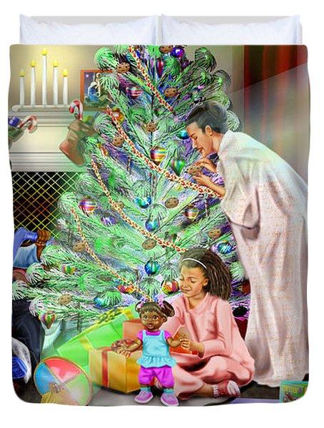 Christmas Back In Da Day Duvet Cover by Reggie Duffie