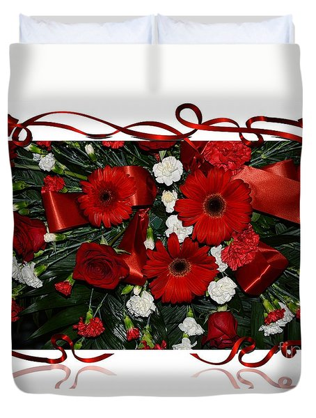 Christmas Bouquet  Duvet Cover by Kathleen Struckle