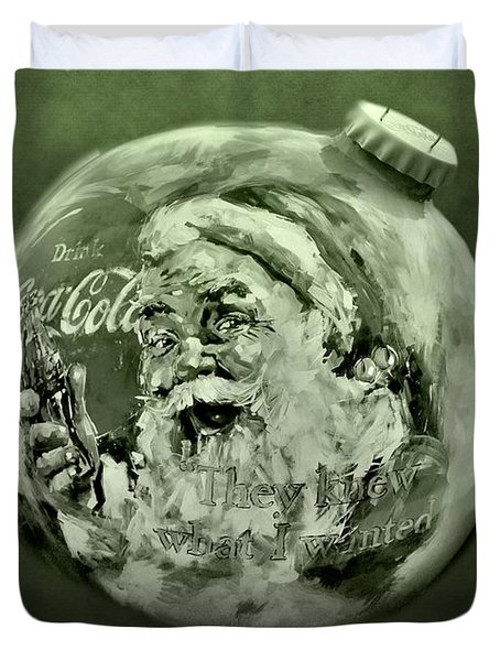 Christmas Coca Cola Duvet Cover by Dan Sproul
