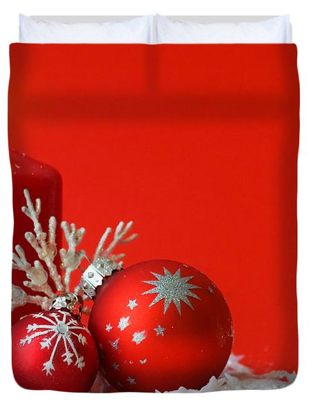 Christmas Decoration Background Duvet Cover by Michal Bednarek