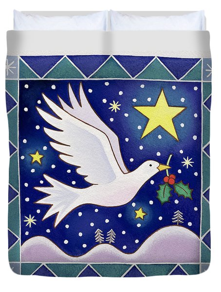 Christmas Dove  Duvet Cover by Cathy Baxter