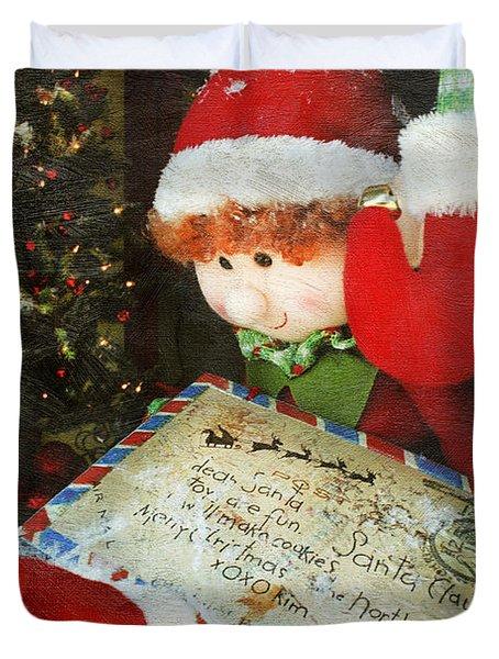 Christmas Elf Duvet Cover by Darren Fisher