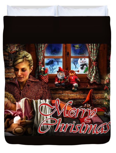 Christmas Greeting Card V Duvet Cover by Alessandro Della Pietra