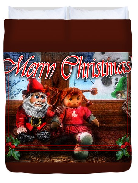 Christmas Greeting Card Vii Duvet Cover by Alessandro Della Pietra