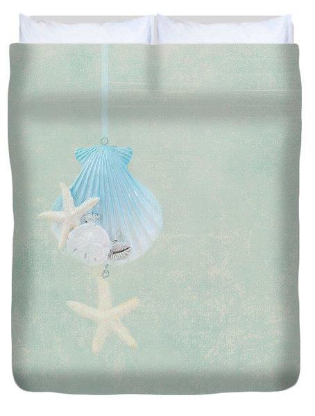Christmas Starfish Duvet Cover by Kim Hojnacki