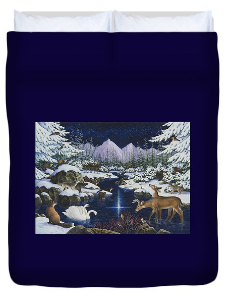 Christmas Wonder Duvet Cover by Lynn Bywaters