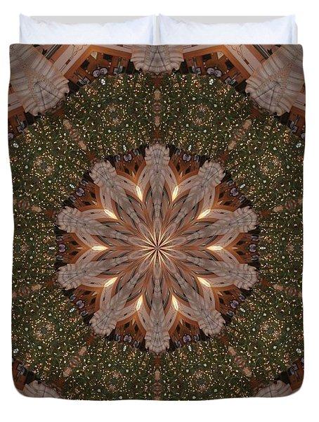 Christmas Wreath Duvet Cover by Lena Photo Art