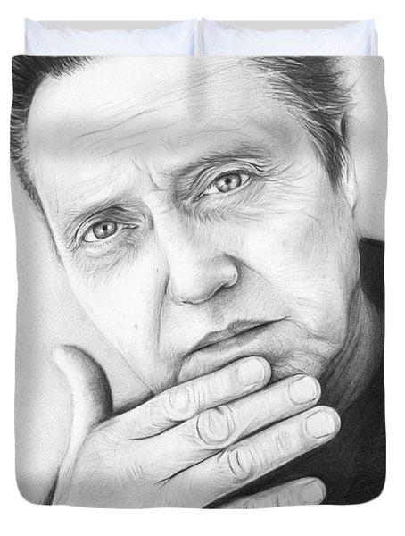 Christopher Walken Duvet Cover by Olga Shvartsur