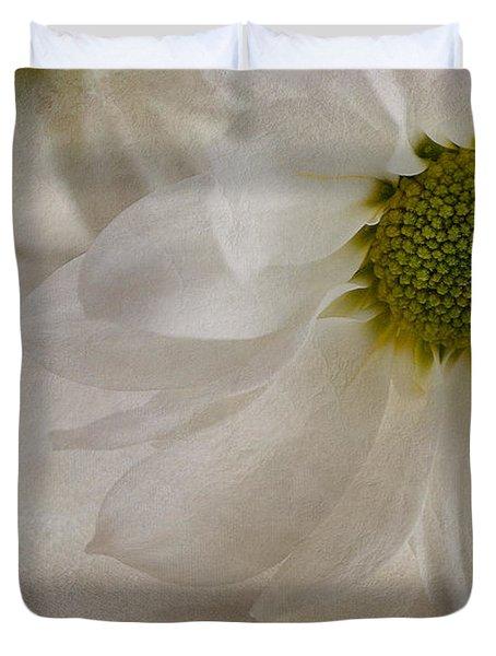 Chrysanthemum Textures Duvet Cover by John Edwards