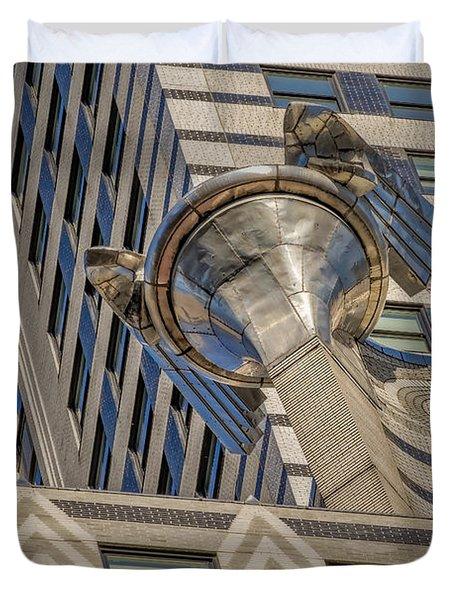 Chrysler Building Gargoyle Duvet Cover by Susan Candelario
