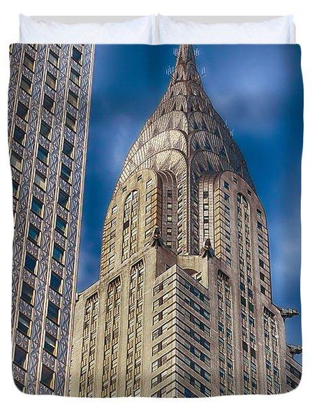 Chrysler Building Duvet Cover by Joann Vitali