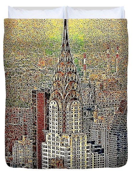 Chrysler Building New York City 20130425 Duvet Cover by Wingsdomain Art and Photography