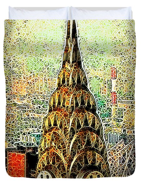 Chrysler Building New York City 20130503 Duvet Cover by Wingsdomain Art and Photography
