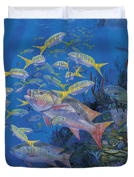 Chum Line Re0013 Duvet Cover by Carey Chen
