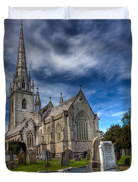 Church Of Marble Duvet Cover by Adrian Evans