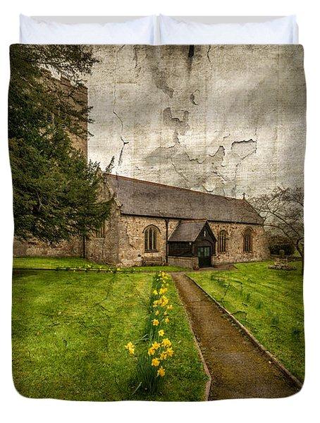 Church Path Duvet Cover by Adrian Evans