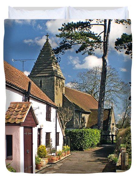 Church Path - Kenn - Somerset Duvet Cover by Robert Down