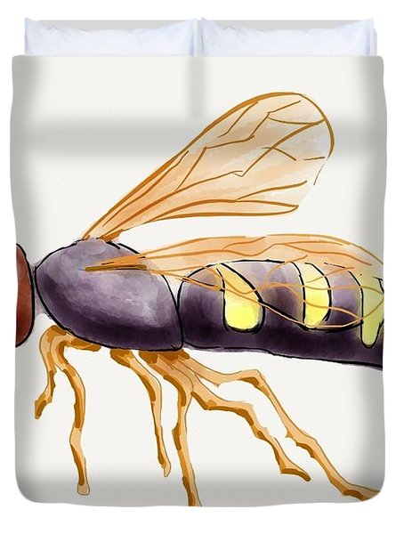Cicada Killer Wasp Duvet Cover by Stacy C Bottoms