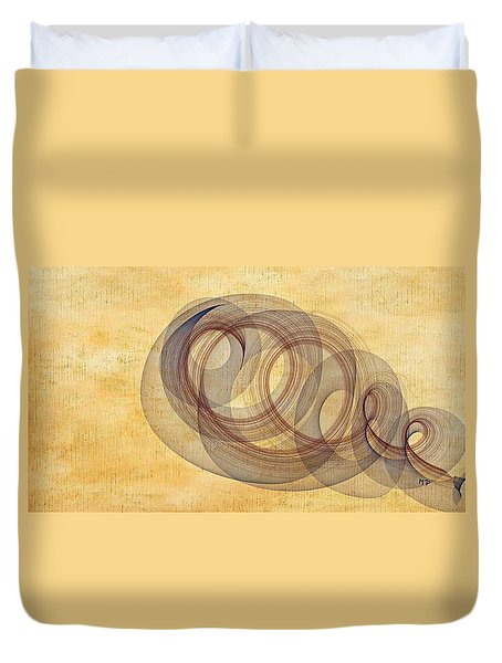 Circle Of Life Duvet Cover by Marian Palucci-Lonzetta