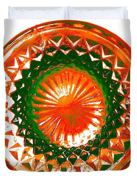 Circle Orange Duvet Cover by Anita Lewis