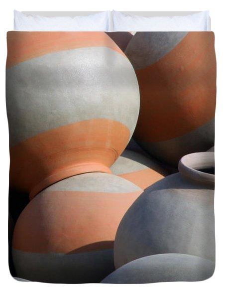 Circles No5_PJBoylan Duvet Cover by PJ Boylan