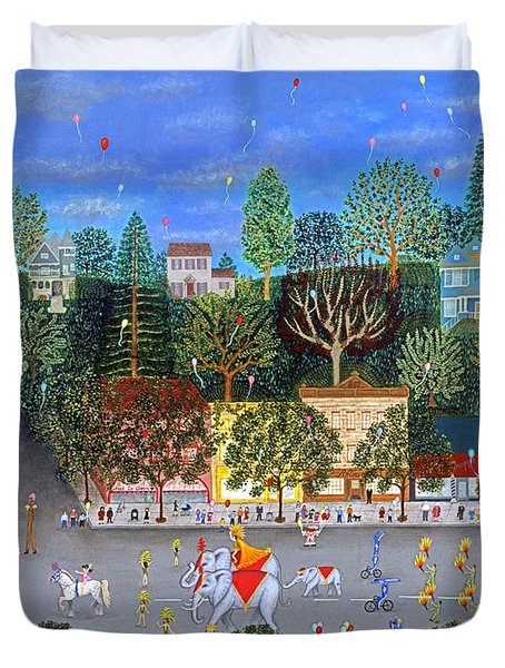 Circus Parade Two Duvet Cover by Linda Mears