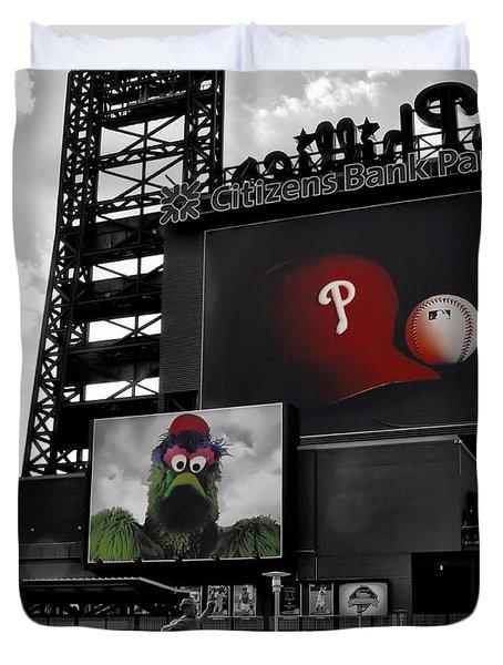 Citizens Bank Park Philadelphia Duvet Cover by Bill Cannon