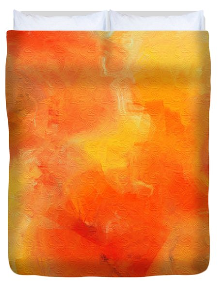 Citrus Passion - Abstract - Digital Painting Duvet Cover by Andee Design