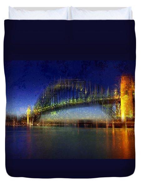 City-art Sydney Duvet Cover by Melanie Viola