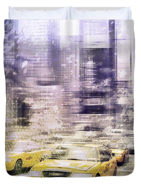 City-Art TIMES SQUARE I Duvet Cover by Melanie Viola