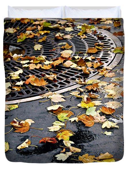 City Fall Duvet Cover by Elena Elisseeva