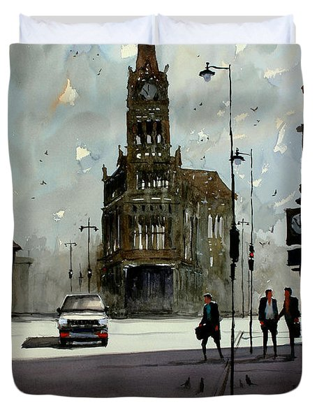 City Hall - Milwaukee Duvet Cover by Ryan Radke