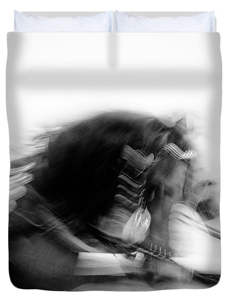 City Horses Duvet Cover by Dave Bowman