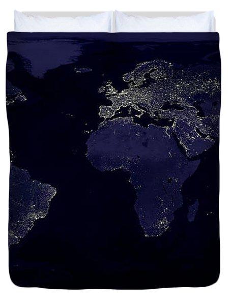 City Lights Duvet Cover by Sebastian Musial