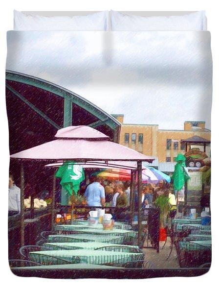 City Market Duvet Cover by Liane Wright
