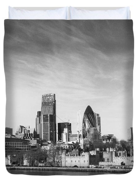 City Of London  Duvet Cover by Pixel Chimp