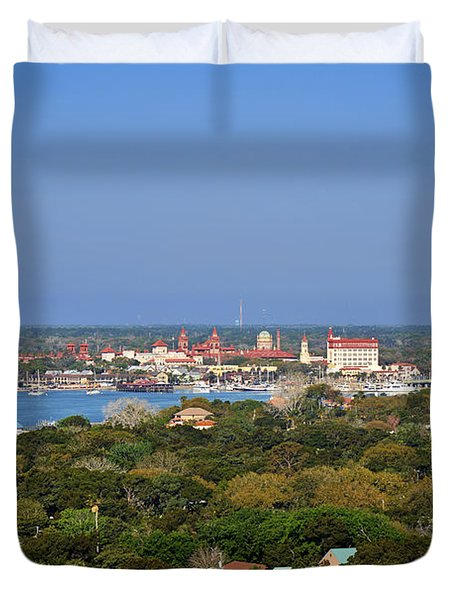 City Of St Augustine Florida Duvet Cover by Christine Till