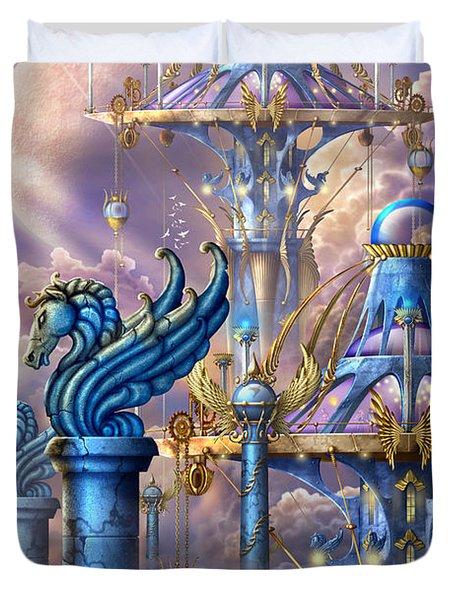City Of Swords Duvet Cover by Ciro Marchetti