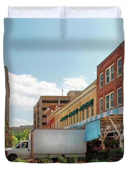 City - Roanoke VA - The City Market Duvet Cover by Mike Savad