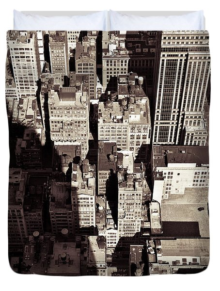 City Shadow Duvet Cover by Dave Bowman